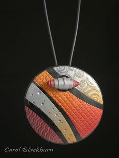 """Interesting """"clasp"""" idea for a pendant - Mica Magic - Pendant and Pin 