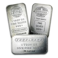 For those who love Engelhard, these bars are for you. 999 fine Silver bars come in a variety of great designs and may or may not be sealed in plastic. Contains 1 troy ounce of. Silver Investing, Silver Maple Leaf, Silver Bullion, Silver Bars, Goods And Services, Silver Coins, Troy, Precious Metals, Secondary Market