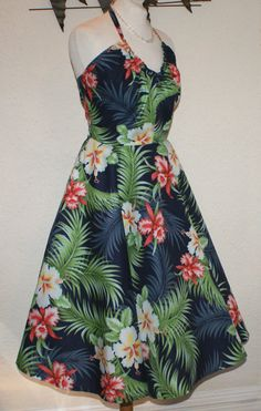 1950s vintage inspired repro Hawaiian print full by OuterLimitz, £75.00
