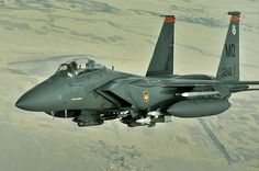 An F-15E Strike eagle conducts a mission over Afghanistan