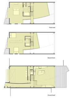 Home Design and Interior Design Gallery of Exciting House Floor Plan Three Levels Buena Vista Residence