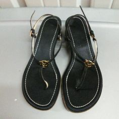 """Valentino Black Thong Sandal Normal wear.2"""" heel.great condition Valentino Shoes Slippers"""