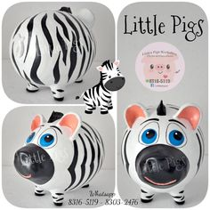 - Little Pigs Workshop Personalized Piggy Bank, Little Pigs, Money Box, Piggy Banks, Diy And Crafts, Workshop, Teacup Pigs, Paper, Craft Projects