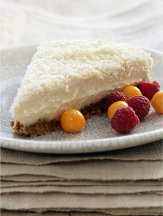 Many have mastered an Amarula Cheesecake. This is our version – infused with the exotic flavours of the marula fruit and velvet white chocolate. The star of any high tea. Delicious Desserts, Yummy Food, Cold Desserts, White Chocolate Cheesecake, Cocktail Desserts, South African Recipes, Food Shows, Something Sweet, Cheesecake Recipes