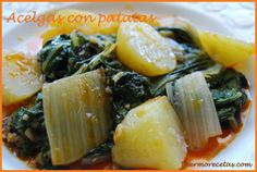 Esta receta la preparé para mi marido, pues últimamente nos estamos cuidando bastante las cenas y casi siempre elaboro algún plato de verduras. No lahabí