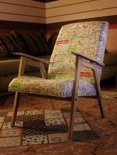 'Подглядела' - кресло с картой метро   Торговый комплекс «Атмосфера дома»