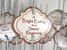 Wedding Sparkler Tags by CreativeCandyDesign on Etsy, $20.00
