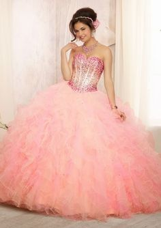 Grandiosos vestidos de Quinceanera   Coleccion Vizcaya 2014