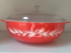 vintage pyrex holiday casserole