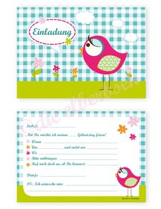 einladungen kindergeburtstag kids birthday invite | kids | pinterest, Einladungen