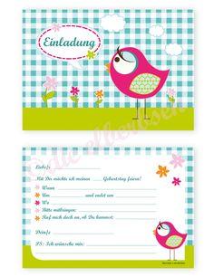 Einladungen  Kindergeburtstag  Kids Birthday  invite