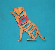 I Love Dogs Scroll Saw Wooden Puzzle