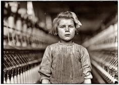 Child worker in a mill