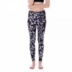 Bones with Black Mesh Lines Women's Leggings Printed Yoga Pants Workout $30.99 + FREE Shipping Worldwide