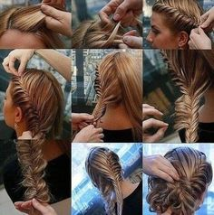 Fishtail braid updo personal-popular-collection