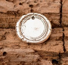 Artisan Seal Charm, Wax Seal Stamping Charm in Sterling Silver
