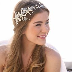This hair accessory is perfect for a beach wedding.