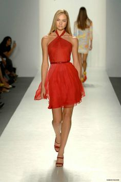 Candice Swanepoel for the 2008 Pamella Roland Spring/Summer Fashion Show