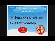 Learn to read, understand and pronounce Afrikaans words and sentences. This is a free Afrikaans reading course for primary school students or anybody who wis. Afrikaans Language, Money Book, Christian School, Single Words, Learn To Read, Primary School, Writing A Book, Hare, Homework