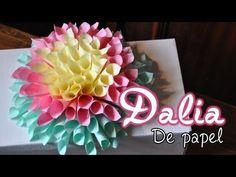 DIY: Flor De Papel Estilo Kusudama - Brotes De Creatividad - YouTube