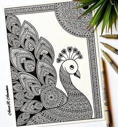 Easy Mandala Drawing, Flower Art Drawing, Doodle Art Drawing, Dark Art Drawings, Art Drawings Sketches Simple, Mandala Art Therapy, Mandala Art Lesson, Mandala Artwork, Mandala Canvas