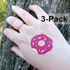 Donut Tattoo Temporary Tattoos for Women Donuts Jewelry