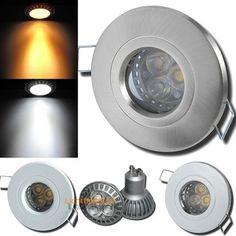 IP44 Feuchtraumstrahler Aqua44   230Volt Einbauspots 5Watt Power LED  Einbauleuchte. Strahlwasser Geschützt.
