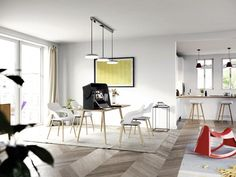 A table range also complements the chairs. It fits together perfectly and it´s great for your homeoffice
