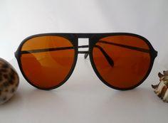 """Vintage Brillen - ☮ Sonnenbrille """"Piloten-Style""""Schwarz☮ - ein Designerstück von Camden-Market bei DaWanda"""