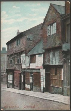 Old Snig Hill Sheffield Sources Of Iron, Sheffield England, Postcards For Sale, South Yorkshire, Derbyshire, Historical Clothing, Pinterest Marketing, Family History, Old Photos