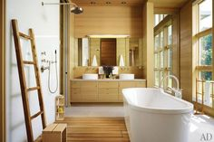 Midwest-inspired bathroom design by architect Margaret McCurry.