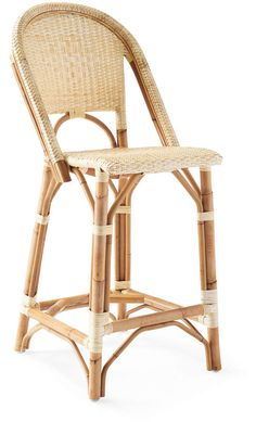 Serena and Lily Sunwashed Riviera Counter Stool Decor, Modern Dining Chairs, Home Decor Kitchen, Beach Chic Decor, Stool, Counter Stools, Parisian Bistro Chairs, Dining Room Table Chairs, Bamboo Bar