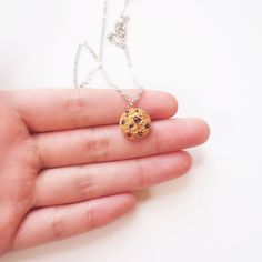Mini Cookie Necklace Handmade Polymer Clay by ElfiHandmade on Etsy