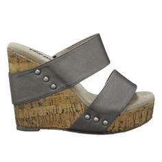6cb8d8bc083 Karmatic (PEWTER) Leather Wedge Sandals