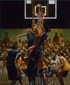 The Rucker - signed print - Kadir Nelson African American Artwork, African Art, American Artists, Nelson Art Gallery, Kadir Nelson, Basketball Art, Street Basketball, Basketball Motivation, Basketball Scoreboard
