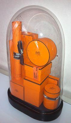 Hermes Boxes--love this orange.