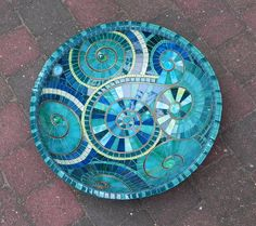 Mosaic Art Turquoise Mosaic Bowl Dish Accented by NewArtsonline