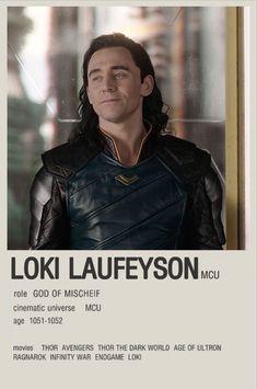 Loki Laufeyson minimalistic character poster