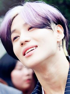 Lee taemin #purple hair #lila hair