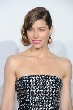 Jessica Biel Retro Updo - Jessica Biel looked retro cool with this faux finger wave updo.