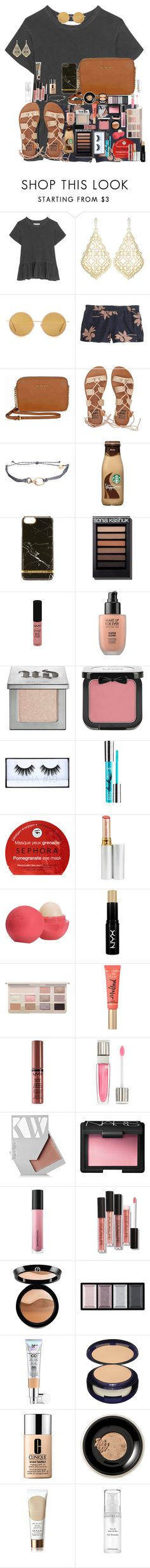 """""""To much"""" by erinlarson0226 ❤ liked on Polyvore featuring The Great, Kendra Scott, Acne Studios, J.Crew, Michael Kors, Billabong, Pura Vida, Richmond & Finch, NYX and MAKE UP FOR EVER"""