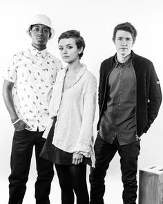 | ME AND EARL AND THE DYING GIRL | RJ Cyler, Olivia Cooke, and Thomas Mann at the Vanity Fair studio in Sundance