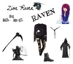"""Zion Raven (reaper)"" by corpseskeleton ❤ liked on Polyvore featuring art"