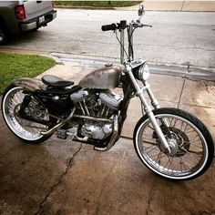 """1,219 Likes, 56 Comments - Enviedcycles Bikes (@enviedcycles) on Instagram: """"#harley #bobber #bobberporn #bncnation #rust #baremetal #patina #21wheels #whitewalls #sportster"""""""