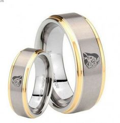 crazy about star wars..... his & hers rings for star wars weddings $69.98 both!  #starwars #rings #weddingrings