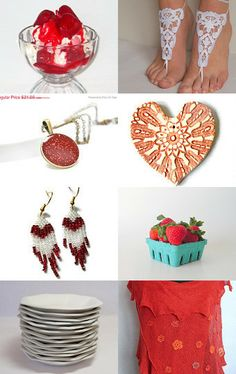Strawberries and Cream by Pam Masters on Etsy--Pinned with TreasuryPin.com