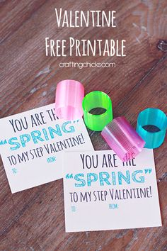 Valentine Card Free Printable - You are the 'spring' to my step!