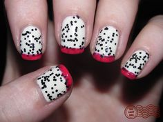 Dragon fruit inspired nails! <3