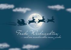 Im Mondscheinlicht | Frohe Weihnachten | Echte Postkarten online versenden…