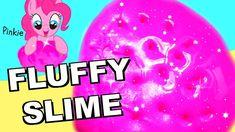 DIY FLUFFY UNICORN SLIME selber machen I Pinkie Pie NEON Schleim zum kne...